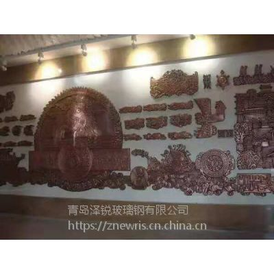 青岛锻铜雕塑厂家 高档大厅锻铜浮雕壁画