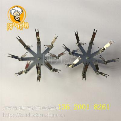 弹簧挂具定制 喷漆弹片夹具工装 方管连接件圆柱产品喷涂治具