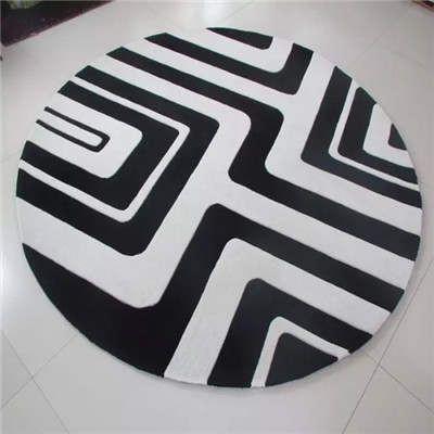 郑州地毯餐厅圆形地毯铺装/可定制混纺圆形地毯腈纶