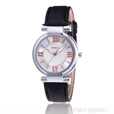 日内瓦学生手表精致气质女士手表时尚皮带休闲石英女款手表批发