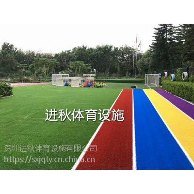 幼儿园小学彩虹草 人造草坪施工