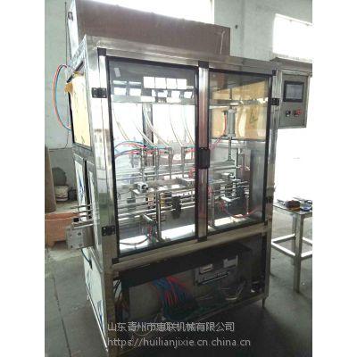 液体自动灌装机 全自动酒水灌装设备 6头直线灌装设备