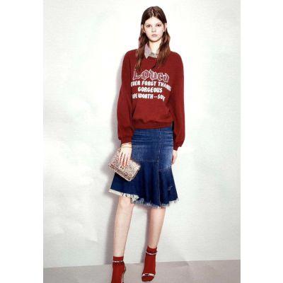 蜂后国际服装品牌折扣代理折扣女装 北京衣服尾货批发市场波西米亚酒红色大码女装新款组货包
