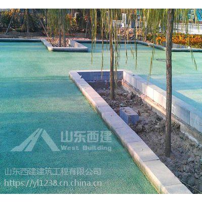 [火爆销售]淄博彩色沥青混凝土,高青沥青着色 彩色多孔地坪 交地施工