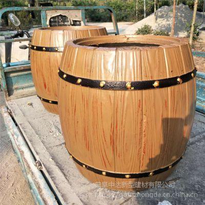 邢台市厂家直销道路园林专用水泥仿木花箱花桶