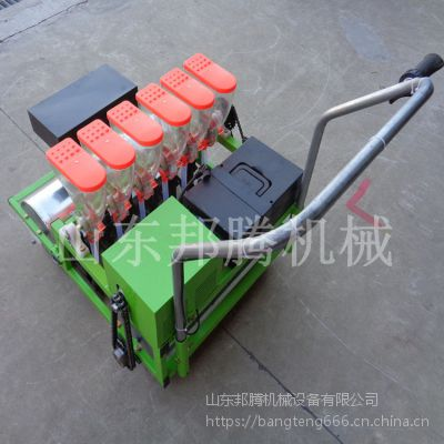 四轮车带动多功能精量播种施肥机 4行蔬菜精播机 牧草精播机