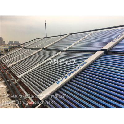 江阴家具厂宿舍洗浴3吨太阳能加5匹空气能热泵系统热水工程