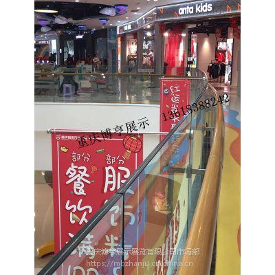 商场不锈钢挂画旗杆 玻璃护栏挂轴 玻璃轴 定制