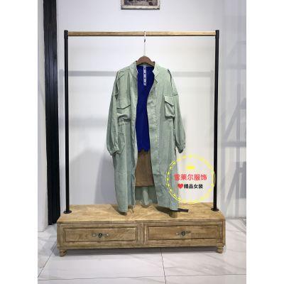 广州服装批发市场女装折扣店玛塞莉女装真丝连衣裙新款上市