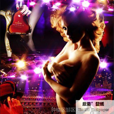 夜店大型壁画主题空间KTV酒吧辣妹美女墙纸壁纸3D立体电视背景墙