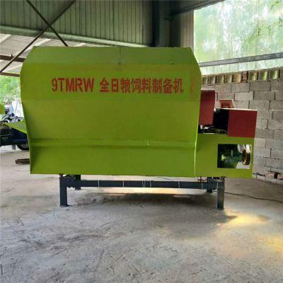 加工定制牛羊喂养饲料专用撒料车 自动拌料撒料一体车