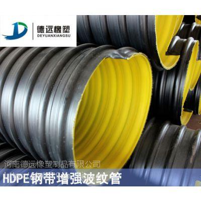 钢带增强HDPE波纹管价格钢带复合缠绕管厂家
