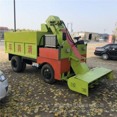长方形粪斗清粪车490型发动机铲粪车一次刮干净清粪车