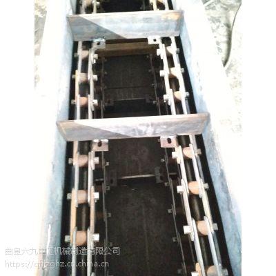水平双板链刮板输送机 mz600板链30米刮板输送机