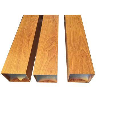 热转印木纹型材铝方管厂家定制 铝合金方通吊顶安装便捷