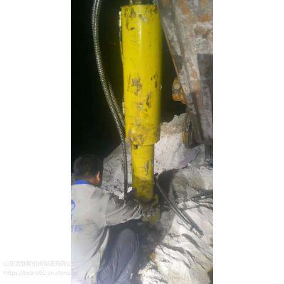 克勒斯厂家供应 kls100大功率柱塞式岩石劈裂棒 矿山开采无声破碎劈裂机