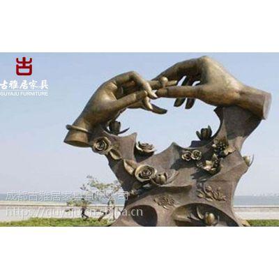 景观雕塑厂家,grc水泥栏杆假山人物定制