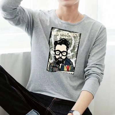 河北邯郸哪里的服装批发市场批发衣服邯郸哪里有纯棉男装长袖T恤衫批发