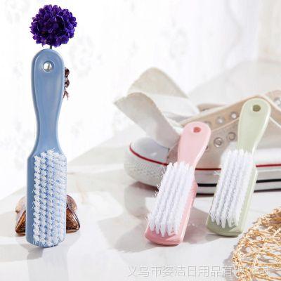 现货批发多功能塑料小刷子鞋子清洁刷 居家彩色软毛洗鞋刷洗衣刷