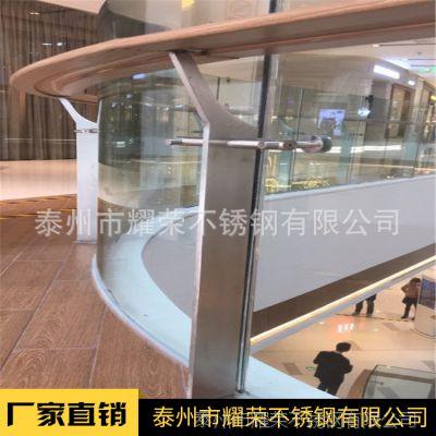 金聚进 热销 室内不锈钢楼梯立柱 商场玻璃栏杆扶手 玻璃栏杆 可定制