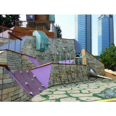 原生态木质滑梯户外木质儿童拓展室外儿童乐园景区文旅农庄游乐设备可加工定做