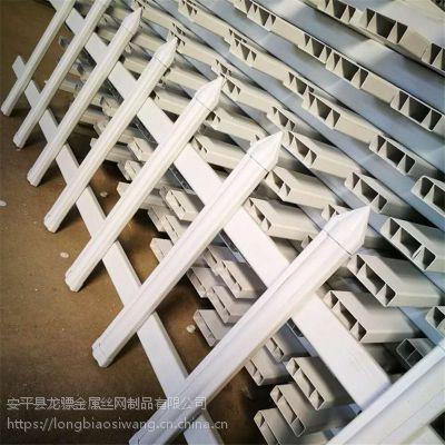 草坪护栏厂家 园艺绿化带围栏 PVC栅栏多钱一米