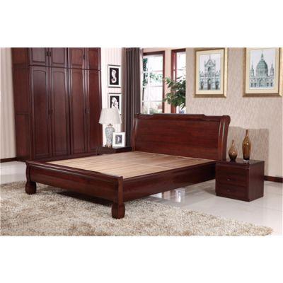 山东实木家具 木言木语新中式实木床家居双人床 1.8米简约黄菠萝实木床厂家直销