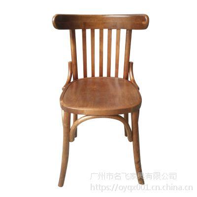 星巴克实木椅 咖啡厅桌椅 靠背温莎椅子 美式创艺加厚餐椅SM09