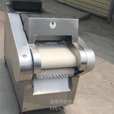 鸡腿菇多用切丝切丁机 腐竹加工切段机型号 启航干药材切片机