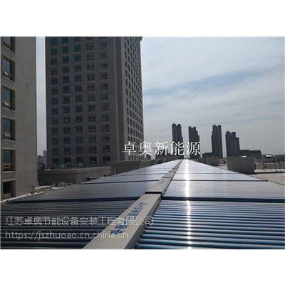 常州白金汉爵大酒店30吨太阳能加空气能热泵系统热水工程