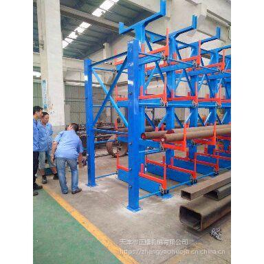 广州重载钢材货架 伸缩悬臂货架结构 存取行车操作 减少人工