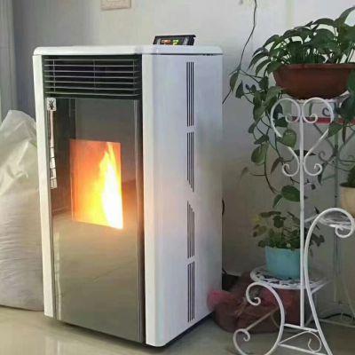 济南 自动上料无噪音生物质颗粒壁炉 厂家直销美观耐用颗粒采暖炉 恒美百特