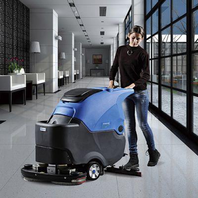 重庆自动洗地机维修 容恩洗地机R70BT 容恩全自动洗地机 电瓶洗地机