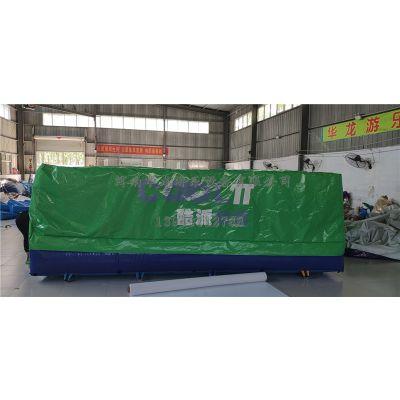 华龙游乐定制充气救生垫,救生防护垫,救生垫,高空防护垫,消防救生垫