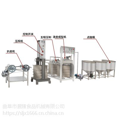 智能豆腐皮机促销山东盛隆一人操作不锈钢千张豆腐皮价格设备