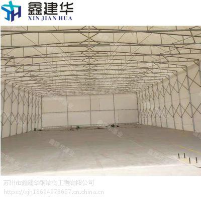 制作一个10*20伸缩雨棚工期需要多久蓬布使用三防 布