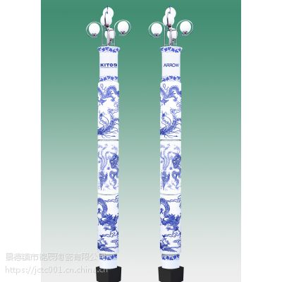 彩绘瓷灯柱 时尚装饰瓷灯柱定制