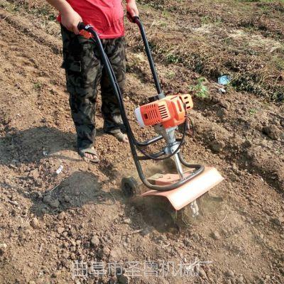 小型手推旋耕机 苗圃大棚松土机 圣鲁多功能锄地机