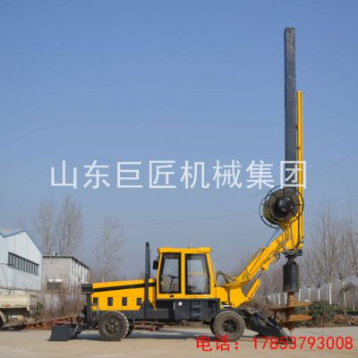 厂家供应13.5米轮式旋挖钻机 打土效率高速度快