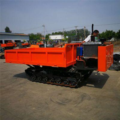 散装饲料履带运输车 随车起重座驾式履带车 工程机械运输车