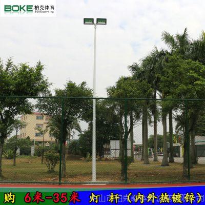 深圳一拖二球场灯杆 篮球场照明LED灯杆 厂家直销篮球场led电线杆