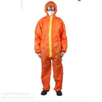 防静电服胶条型防化服3M身体防护DT119限次性无纺布连体服