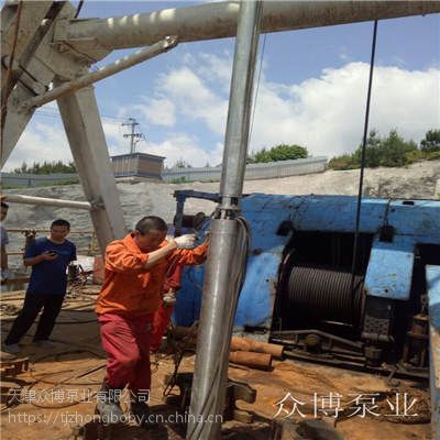耐高温深井泵,地热井用小直径深井泵,水温95度