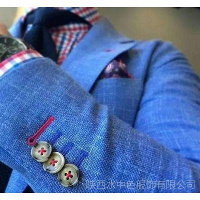 """西安休闲西装定制 灰色毛呢面料 量体裁衣 """"凡岛奇""""品牌优势 质量保证"""