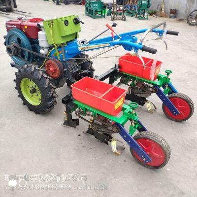 手扶车带玉米大豆精播机/单粒精准播种机/山地丘陵施肥机点播机