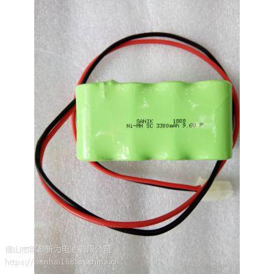 SANIK电池、NI-MH SC 3300MAH 9.6V 10C大电流放电镍氢电池