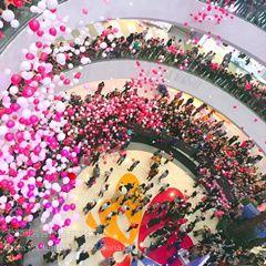气球雨气球瀑布告白气球商场开业气球下落互动