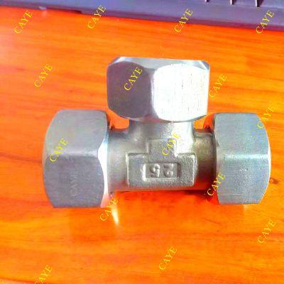 304不锈钢卡套三通BC/BD 高压油管接头 液压三通接头 活螺母外丝