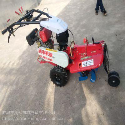 种植大葱双轮手推管理机 柴油开荒旋耕机 农用全能耕整机