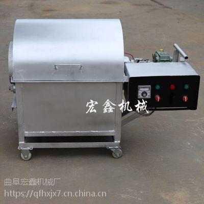 100型燃气花生炒货机 多功能电动恒温瓜子炒货机价格 滚筒炒锅价格